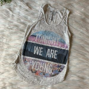 Mighty Fine We Are Young Ribbed Tank